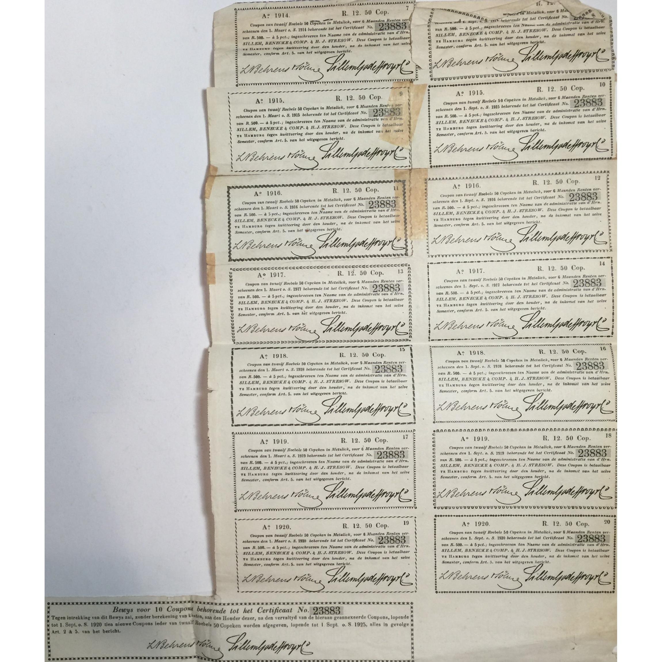 1821 Russian Certificate – signed at Hamburg – Tokens-Girl ...